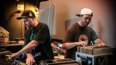 In tune: DJ Shadow and Cut Chemist.