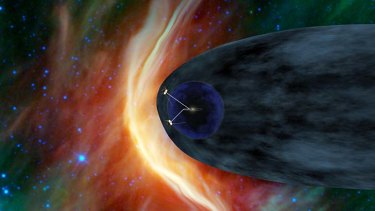 The twin Voyager spacecraft are exploring the edge of the solar system. Voyager 1 is poised to cross into interstellar space..