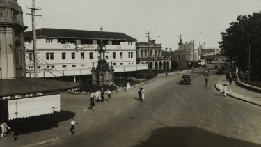 Centenary Square in the early 1930s: The site's new name dates back to 1888, when it was called Centenary Avenue.