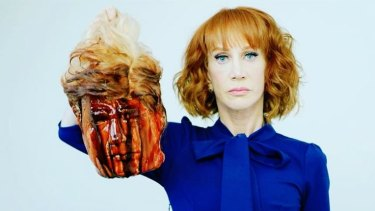 A still from the Kathy Griffin video that resulted in her firing from CNN.