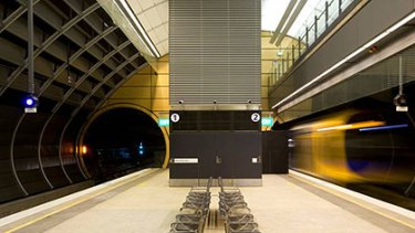 """What the inside of one of Brisbane's new """"tube"""" stations might look like."""