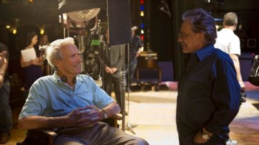 Our generation: Clint Eastwood and Frankie Valli on the set of Jersey Boys.