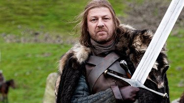 Sean Bean in a scene from <i>Game of Thrones</i>.
