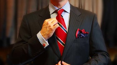 The comfort in these straitened times is tradition - which is swiftly achieved with the tie.