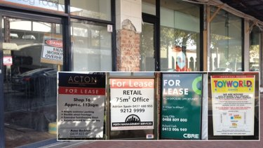 The City is blighted by a litany of for lease signs and vacant offices.