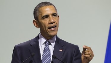 """Obama said the US embraces """"our responsibility to do something about"""" climate change."""