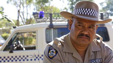 I am the law: Texas (Greg Tait) stands guard over the indigenous youth in his outback patch in the extraordinary drama Mad Bastards.