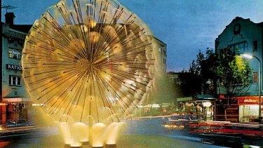 Landmark: A postcard of Sydney's El Alamein Fountain.