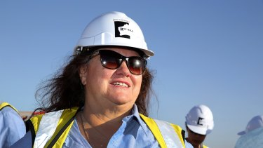 The ore price could be down for quite some time, Gina Rinehart says.