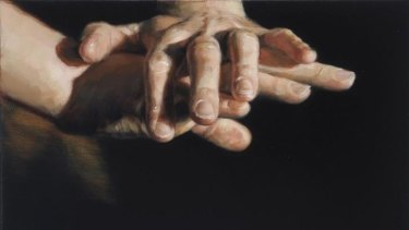 Celeste Chandler depicts hands in various modes of entwinement.