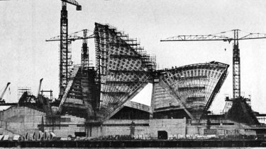 Opera House construction in 1965.