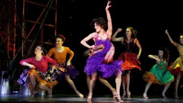 Deone Zanotto and the Shark Girls in the Production Company's <i>West Side Story</i>.
