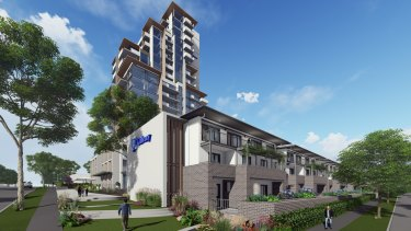 The proposed retirement village high-rise.