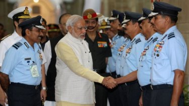 New India: Narendra Modi meets top air force commanders in Delhi. The prime minister has promised sweeping reform of governance in India.