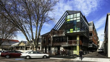There is nothing mean about the carefully designed 27-unit Kyme Place Rooming House, in Port Melbourne.