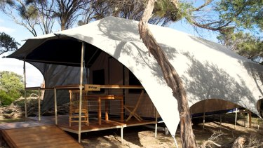 Wilderness Retreat tent accommodation.