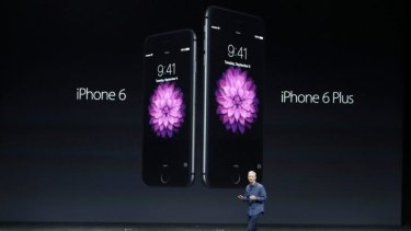 Apple CEO Tim Cook introduces the new iPhone 6 and iPhone 6 Plus.