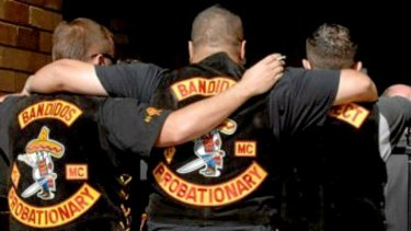 Members of the Bandidos, one of the bikie gangs Queensland has come down hard on.