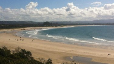 Clarkes Beach after the attack on Tuesday morning.