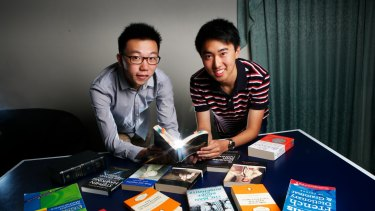 Two VCE high scorers have the same name, Richard Yan, one is from Northcote High School (wearing glasses), the other is from Scotch College, both did very well in their exams.