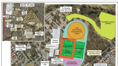 Plans for the stadium in Fairfield.