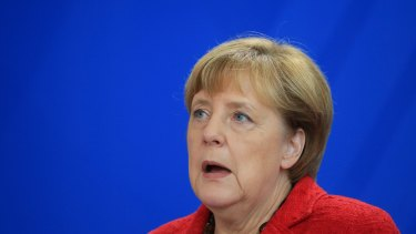 Angela Merkel, Germany's chancellor, speaks following the US Presidential election.