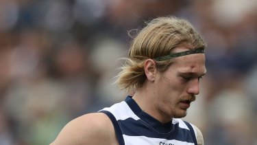 Concern: Tom Stewart was transferred to hospital for scans on a suspected fractured eye socket.