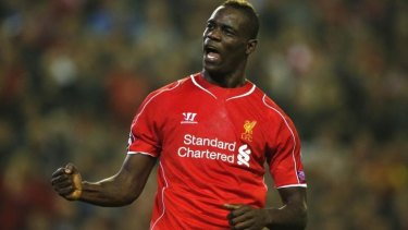 Super Mario: enigmatic striker Mario Balotelli scored his first goal in Liverpool's famous red to help the 2005 champions to a 2-1 win.