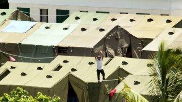 The Nauru detention centre.
