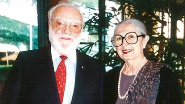 Victor and Loti Smorgon, pictured at the National Gallery of Victoria about a year ago.