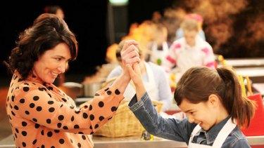 Taste of triumph ... Junior Masterchef judge Anna Gare with 10-year-old contestant Evie.