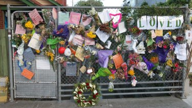Loved: Tributes to Tracy Connelly in Greeves Street.