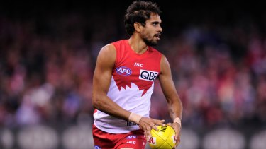 Exciting... Sydney's Lewis Jetta has put his goalkicking yips behind him.
