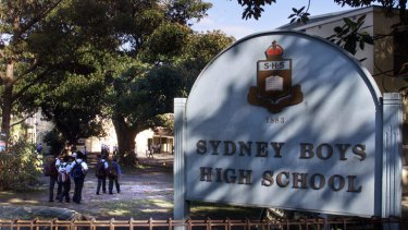 Selective: Sydney Boys High School is one of several inner-city schools in Sydney.