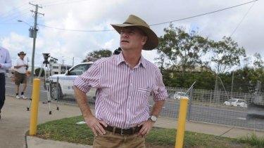 Queensland Premier Campbell Newman in flood-ravaged Bundaberg this week.