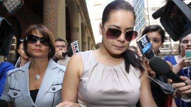 Jessica Silva outside the Supreme Court after being sentenced for the manslaughter of her ex-partner James Polkinghorne.