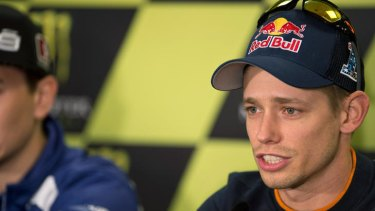 """Casey Stoner ... """"I think that it is best to stop""""."""