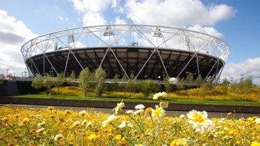 Green glory: London's Olympic Park takes shape.
