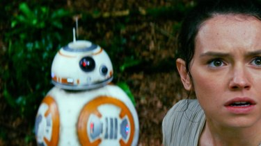 The last Jedi? Daisy Ridley as Rey in Star Wars: The Force Awakens.