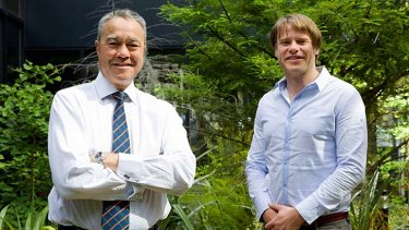 New non-executive director Trevor O'Hoy (left) and Swisse chief Radek Sali.