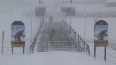Death at Perisher: Police are warning people to be careful on the slopes. .