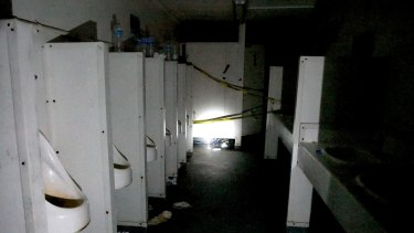 A supplied undated image obtained on November 24, 2017 of toilets with no running water at the former Manus Island detention centre.