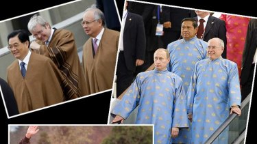 Costume dramas ... the outfits APEC  leaders have worn over the years.