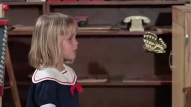 Tabitha's first day of nursery school in Bewitched.