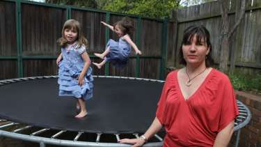 Plans up in the air ... Antonia Selsby may be forced to send her twins to preschool less often.