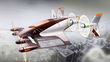 A concept Airbus A3 from Uber's flying cars plan.