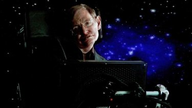 Star man ... Hawking has conquered space and his disability.