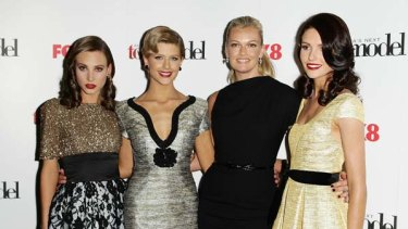 The final three ...  (L-R) Kelsey Martinovich, Sophie Van Den Akker, host Sarah Murdoch and Amanda Ware at the live final.