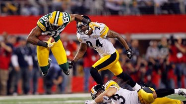 Green Bay Packers vs Pittsburgh Steelers during Super Bowl XLV, February 6, 2011.