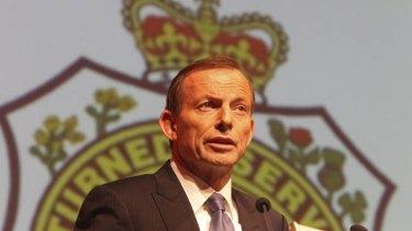 Tony Abbott talks at the RSL National Conference in Sydney.